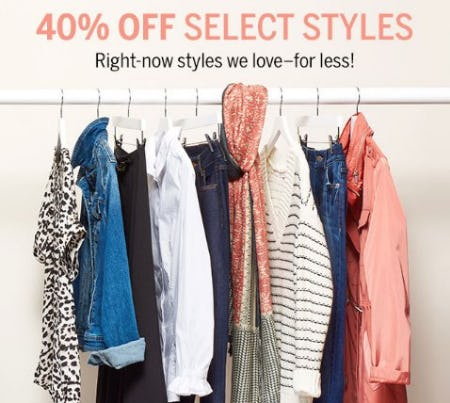 40% Off Select Styles from Dress Barn, Misses And Woman