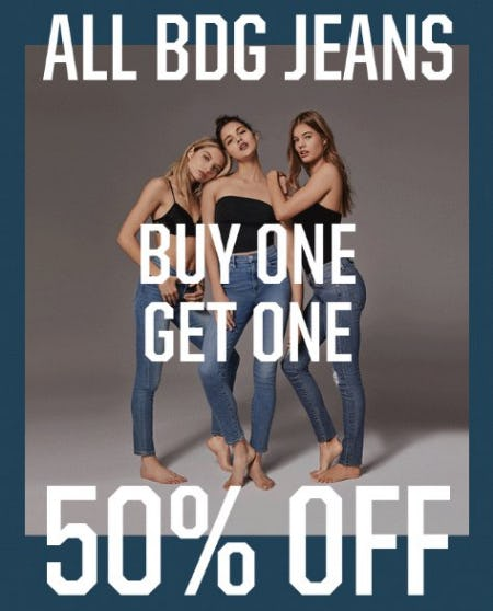 All BDG Jeans Buy One, Get One 50% Off