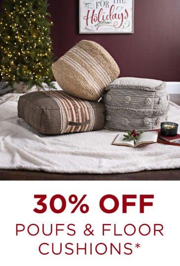 30% Off Poufs & Floor Cushions from Kirkland's