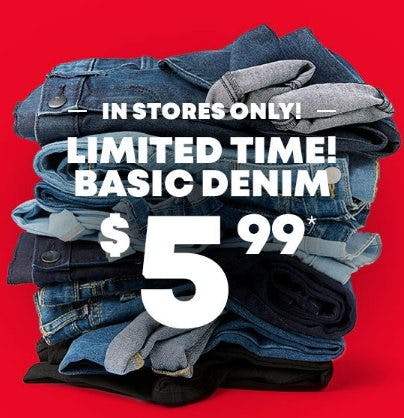 Basic Denim $5.99 from The Children's Place