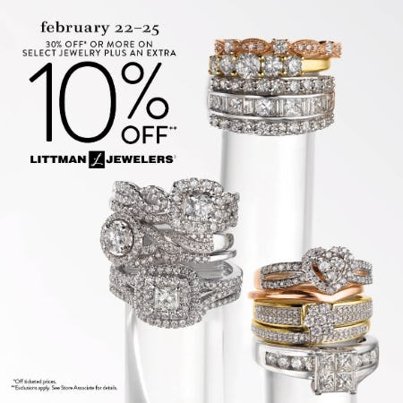 February 4 Day Sale from Littman Jewelers