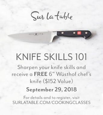 Sur La Table Knife Skills 101 + FREE Wusthof Chef's Knife