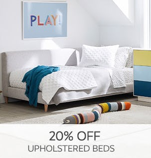 20% Off Upholstered Beds