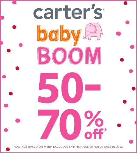 Baby Boom 50-70% Off* from Carter's