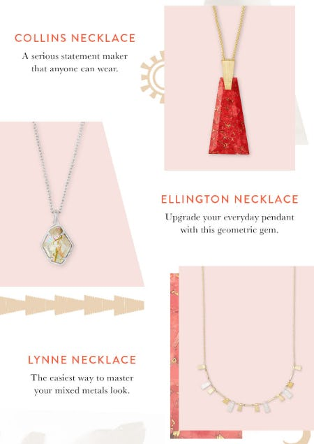 3 New Necklaces from Kendra Scott