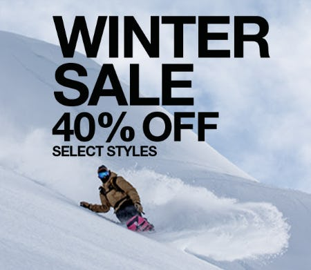Winter Sale: 40% Off on Select Styles from The North Face