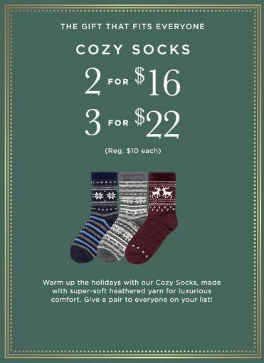 Save on Cozy Socks