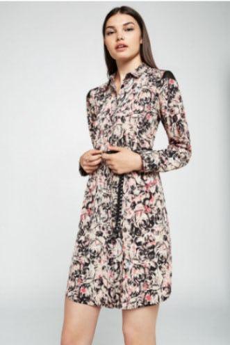 Kaleidoscope Rose A-Line Dress