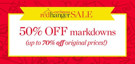 50% Off Red Hanger Sale from Talbots