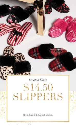 $14.50 Slippers from Victoria's Secret