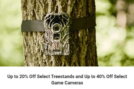 Up to 20% Off Select Treestands and Up to 40% Off Select Game Cameras from Dick's Sporting Goods