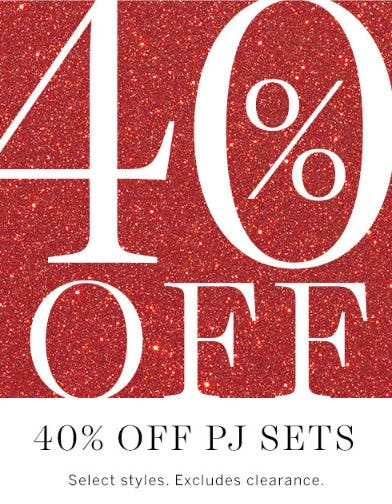 40% Off PJ Sets from Victoria's Secret