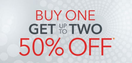 Buy One, Get Up to Two 50% Off