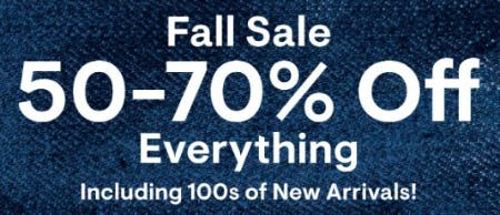 Fall Sale: 50-70% Off Everything