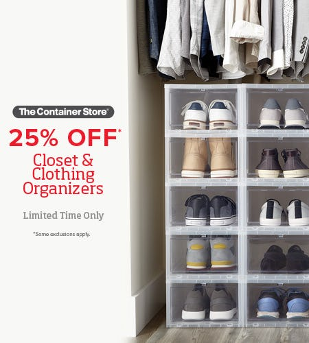 The Container Store Closet Essentials Sale from The Container Store
