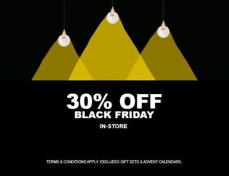 30% Off Black Friday from The Body Shop