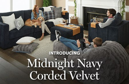 Introducing: Midnight Navy Corded Velvet