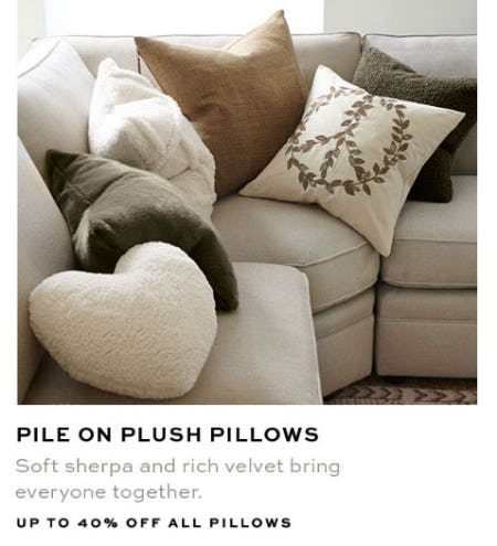 Up to 40% Off All Pillows from Pottery Barn