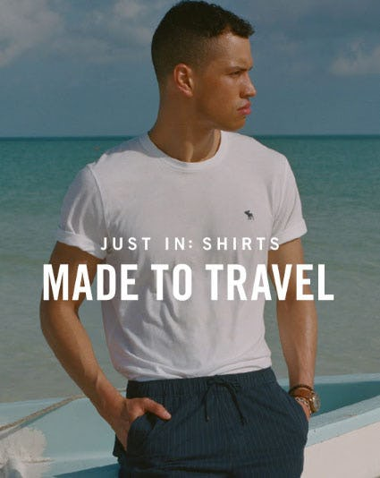 Just In: Shirts Made to Travel from Abercrombie & Fitch