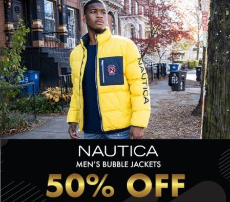 50% Off Men's Nautica Bubble Jackets from EbLens Clothing and Footwear