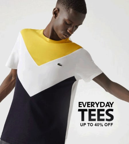 Up to 40% Off on Everyday Tees from Lacoste