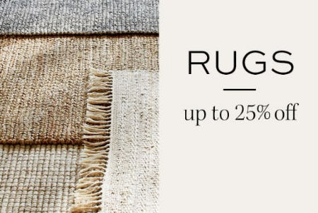 Up to 25% Off Rugs from Pottery Barn