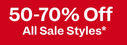 50-70% Off All Sale Styles from Spring
