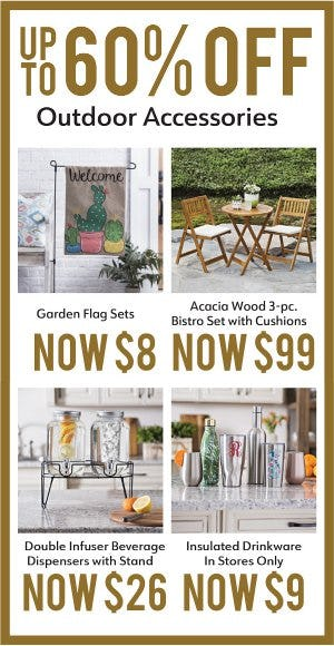 Up to 60% Off Outdoor Accessories from Kirkland's Home
