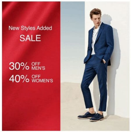 Up to 40% Off Sale from Hugo Boss