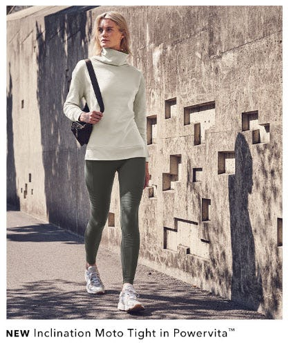 New Inclination Moto Tight in Powervita from Athleta