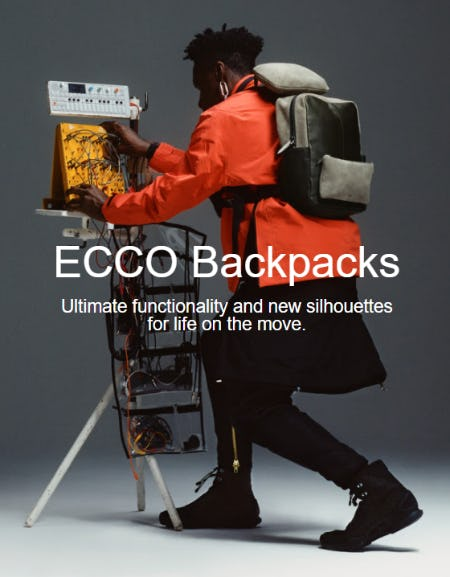 Meet the new generation of backpacks from ECCO