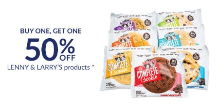 BOGO 50% Off Lenny & Larry's Products from The Vitamin Shoppe