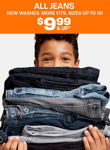 All Jeans $9.99 & Up from The Children's Place Gymboree
