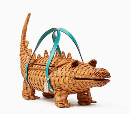 Swamped 3d Wicker Alligator Bag