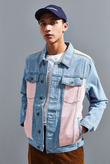 Barney Cools B. Rigid Denim Trucker Jacket from Urban Outfitters