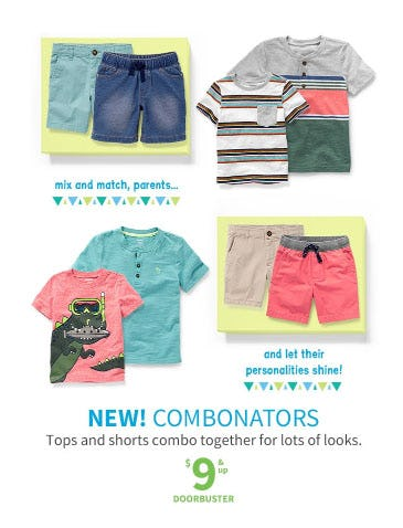 $9 & Up Combonators from Carter's