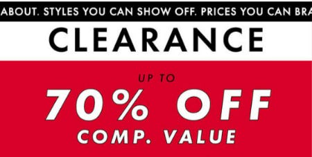 Up to 70% Off Clearance from DSW Shoes