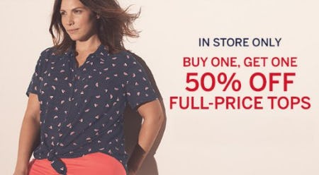 Buy One, Get One 50% Off Full-Price Tops from Dressbarn