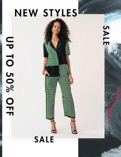 New Styles up to 50% Off from Diane von Furstenberg