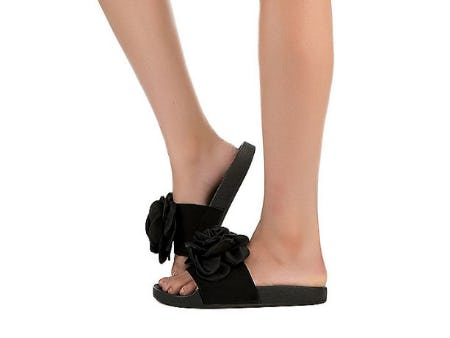Refresh Black Women's Sandy-05 Flat Sandal from Shiekh