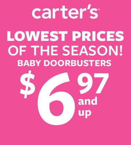 Baby Doorbusters $6.97 and Up