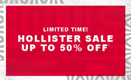 Hollister Sale: Up to 50% Off from Hollister California