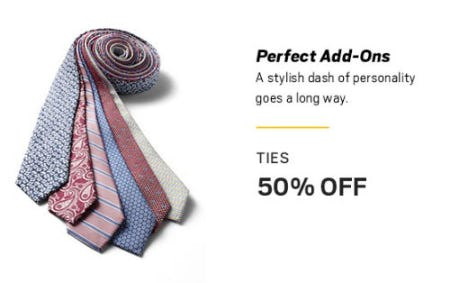 Ties 50% Off from Men's Wearhouse