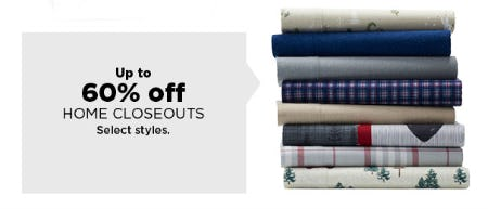 Up to 60% Off Home Closeouts from Kohl's