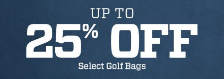 Up to 25% Off on Select Golf Bags from Golf Galaxy