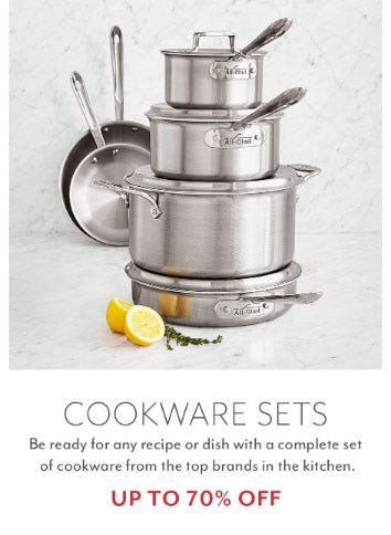 Up to 70% Off Cookware Sets from Sur La Table
