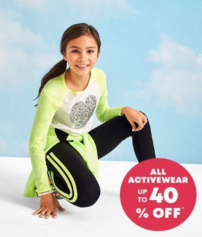 All Activewear up to 40% Off from The Children's Place