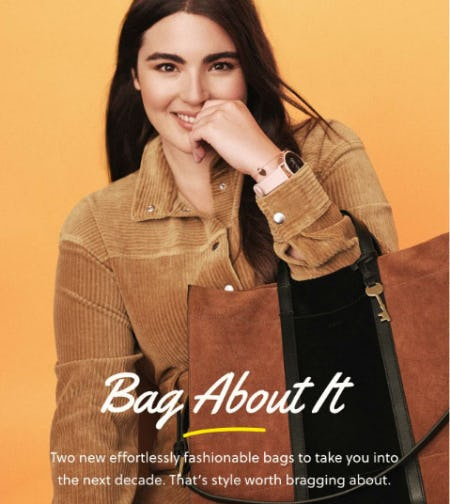 Two New Bags For 2020 from Fossil