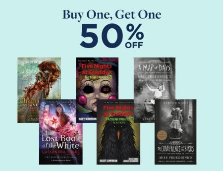 BOGO 50% Off from Books-A-Million