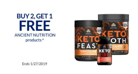 B2G1 Free Ancient Nutrition Products from The Vitamin Shoppe